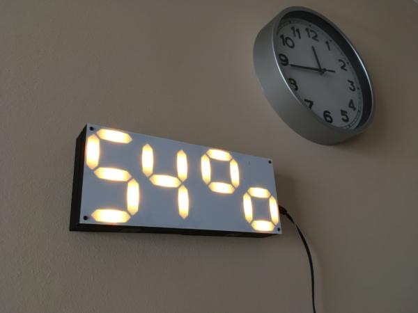 LED Pixel Clock (Clock, alarms, temperature, humidity, atmospheric pressure, and remote monitoring)