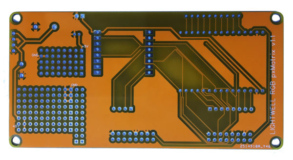 "PxMatrix Panel Shield for library ""LED matrix panel driver for ESP8266, ESP32"""