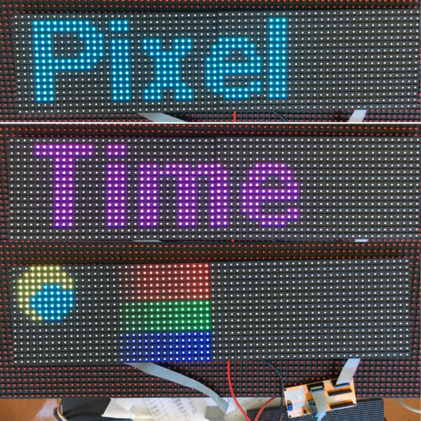 PxMatrix Panel Shield for ESP8266 or ESP32