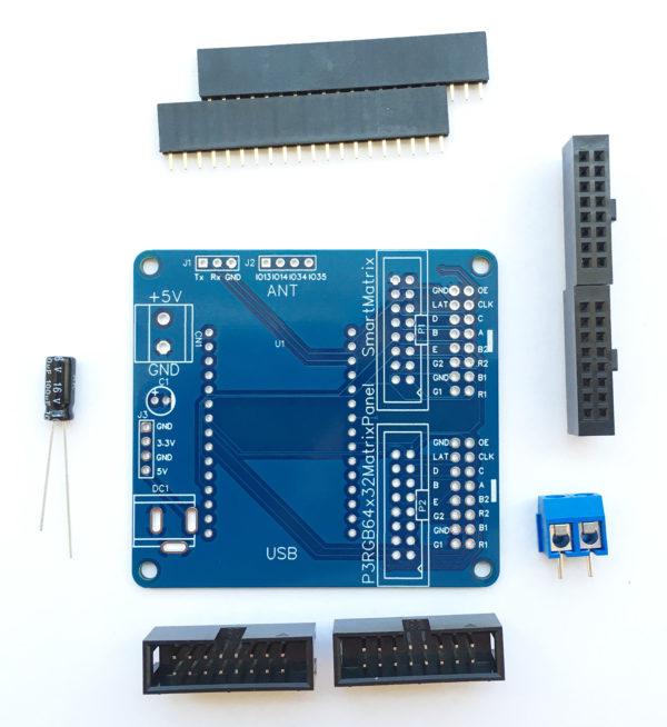 RGB MATRIX PANEL SHIELD FOR ESP32 30P WROOM-32 Development Board